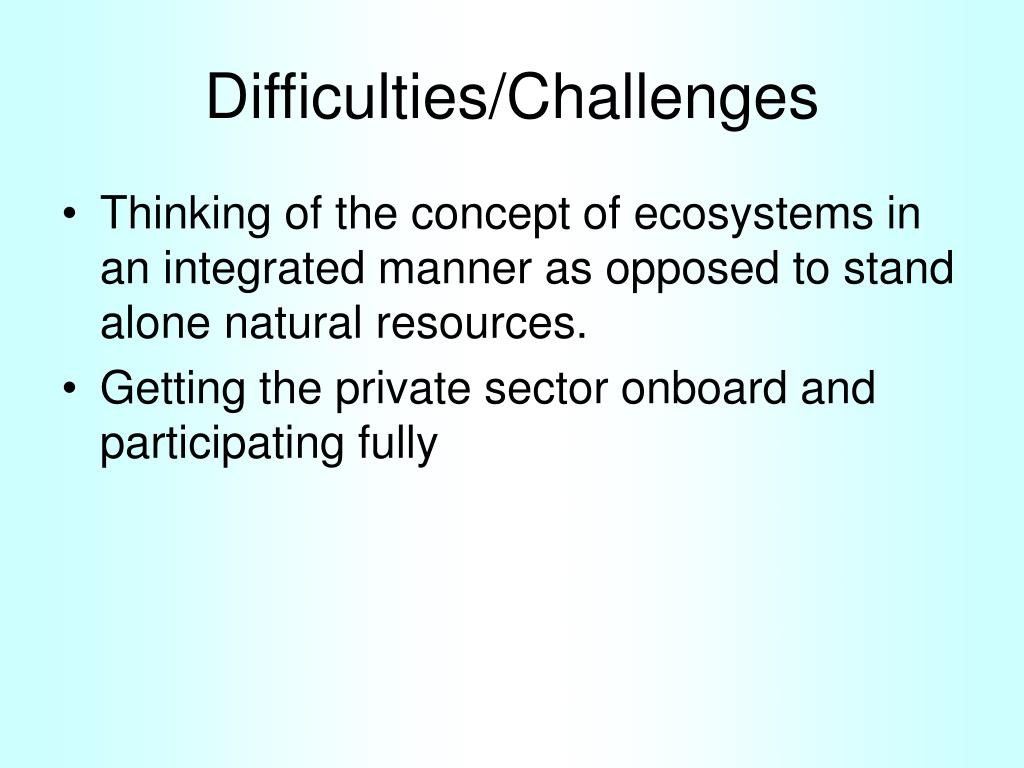 Difficulties/Challenges