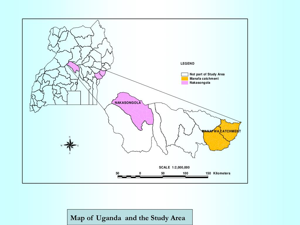 Map of Uganda  and the Study Area