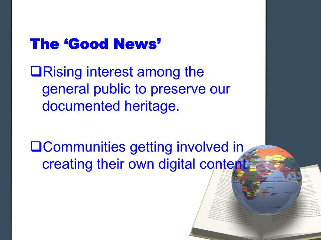 The 'Good News'