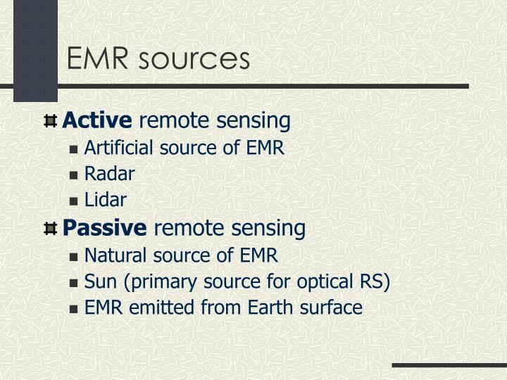 EMR sources