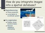 how do you integrate images into a spatial database