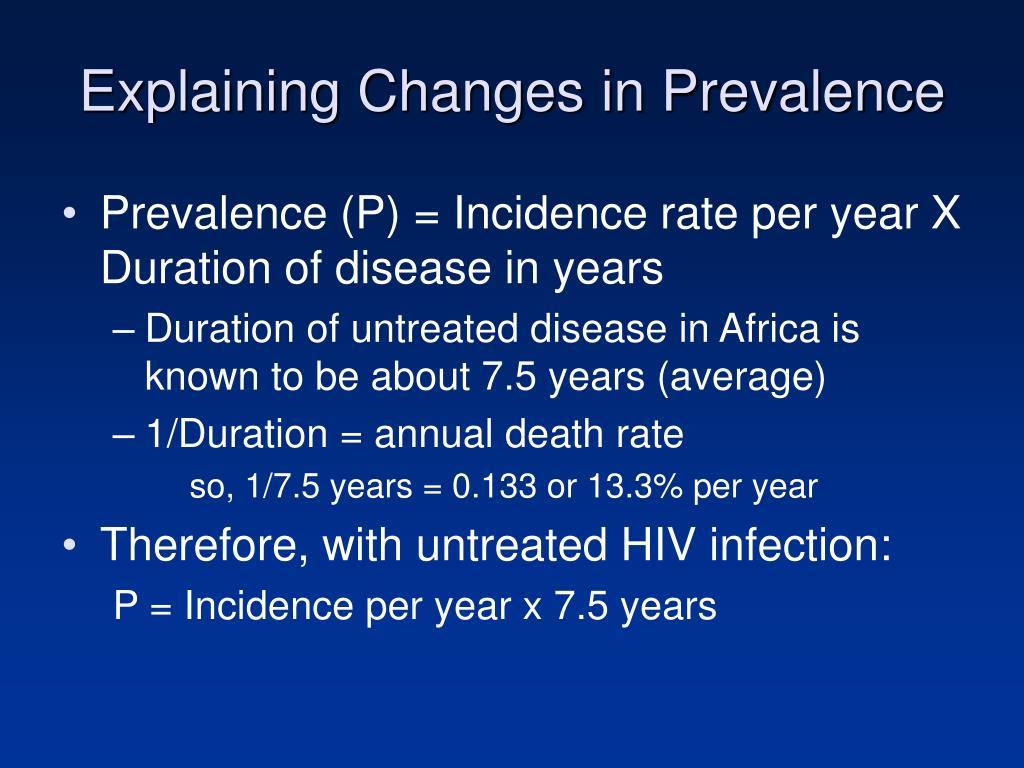 Explaining Changes in Prevalence