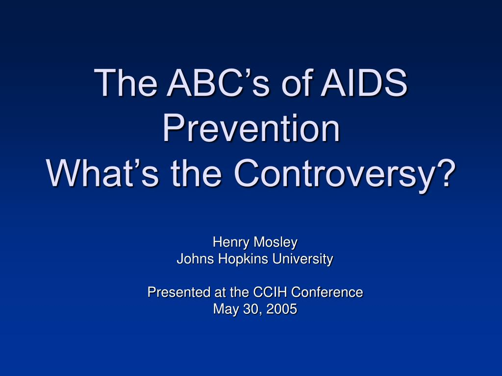 The ABC's of AIDS Prevention