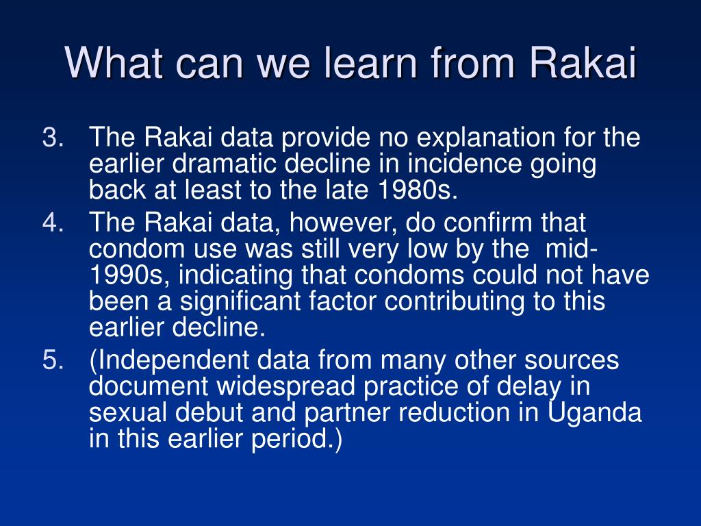 What can we learn from Rakai