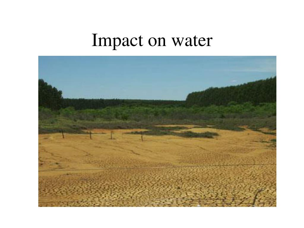 Impact on water