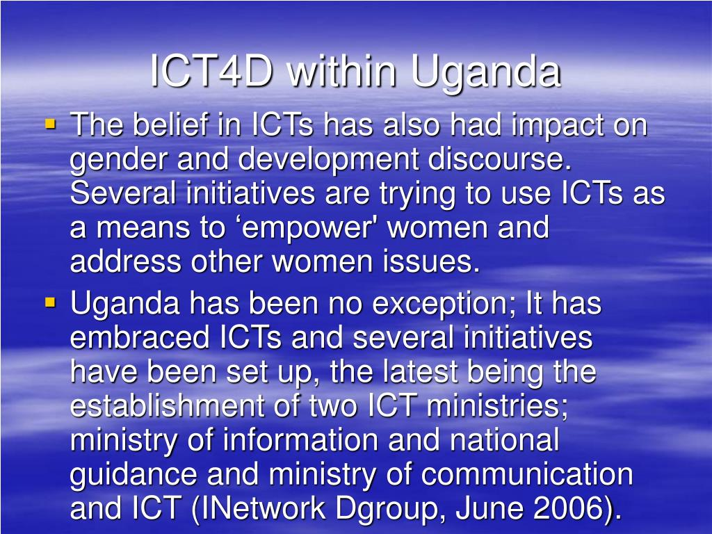 ICT4D within Uganda