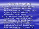 ict4d within uganda
