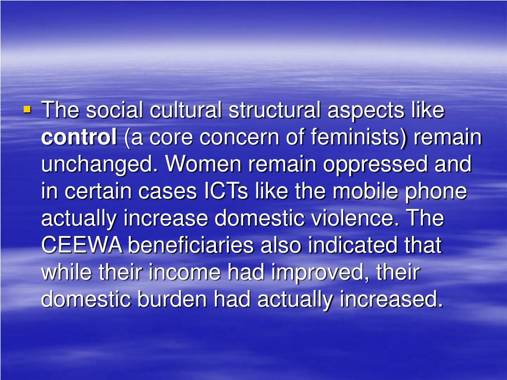 The social cultural structural aspects like