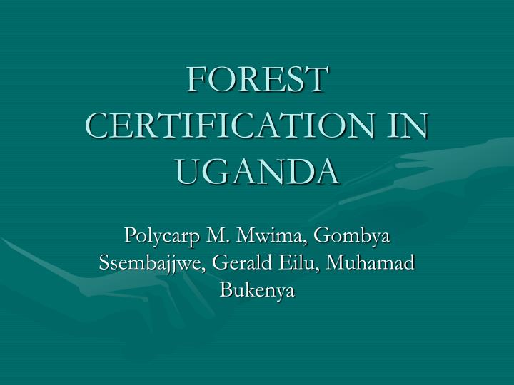 Forest certification in uganda
