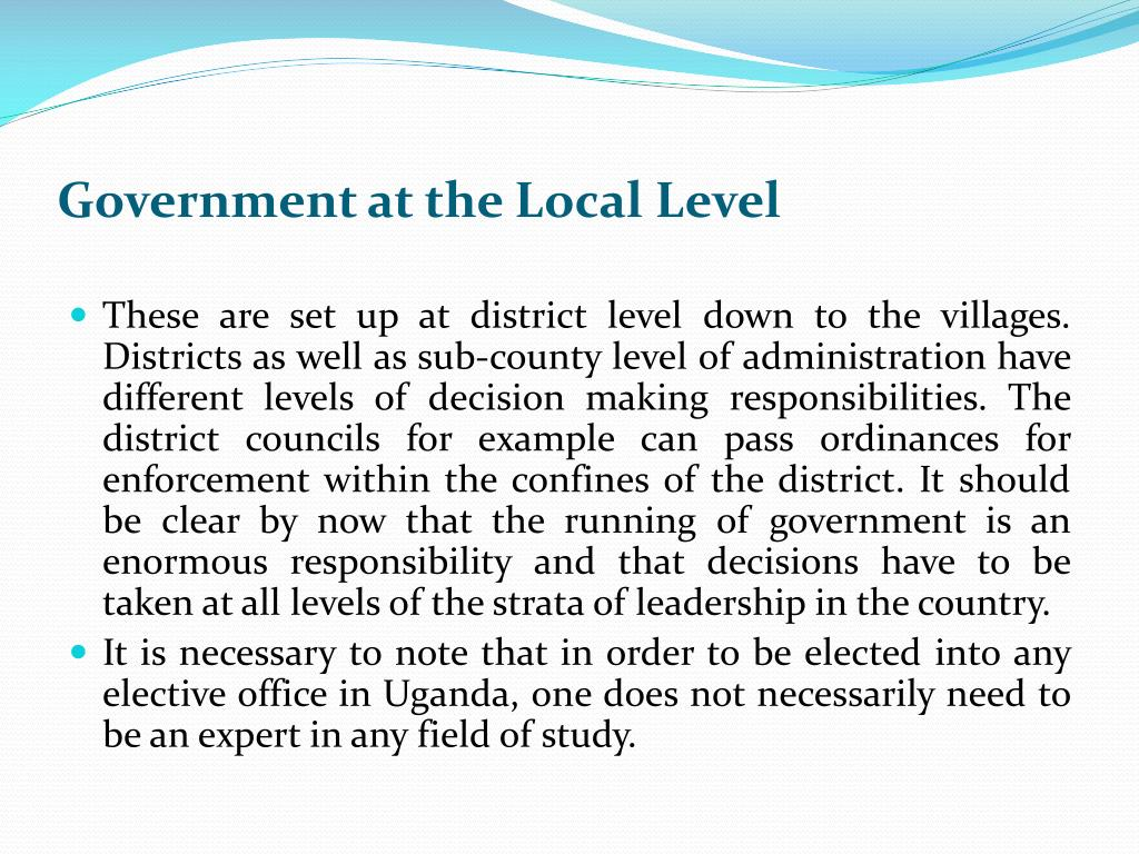 Government at the Local Level