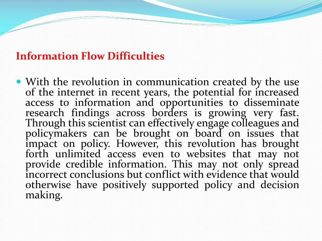 Information Flow Difficulties