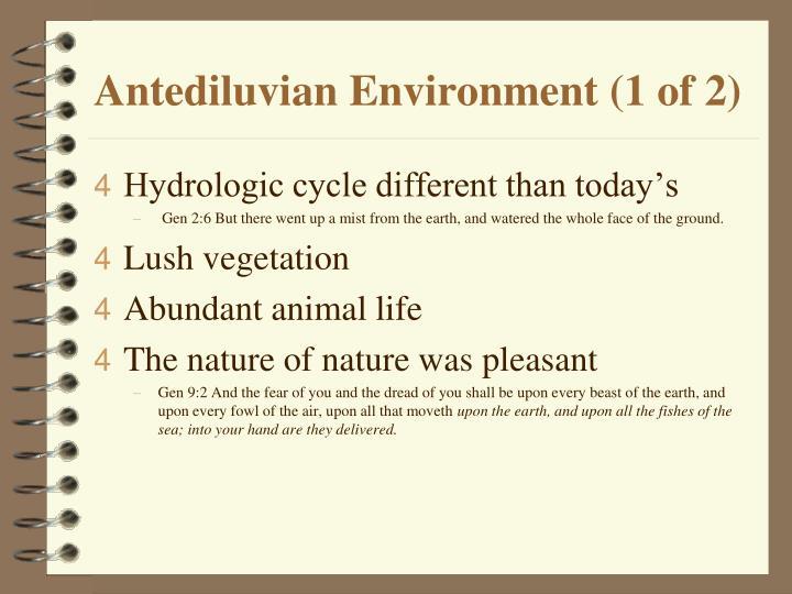 Antediluvian Environment (1 of 2)