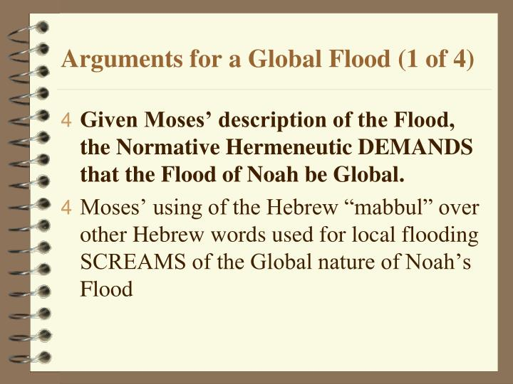 Arguments for a Global Flood (1 of 4)
