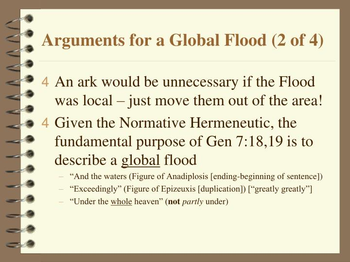 Arguments for a Global Flood (2 of 4)