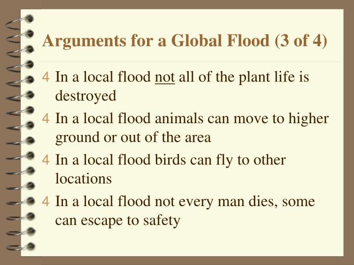 Arguments for a Global Flood (3 of 4)