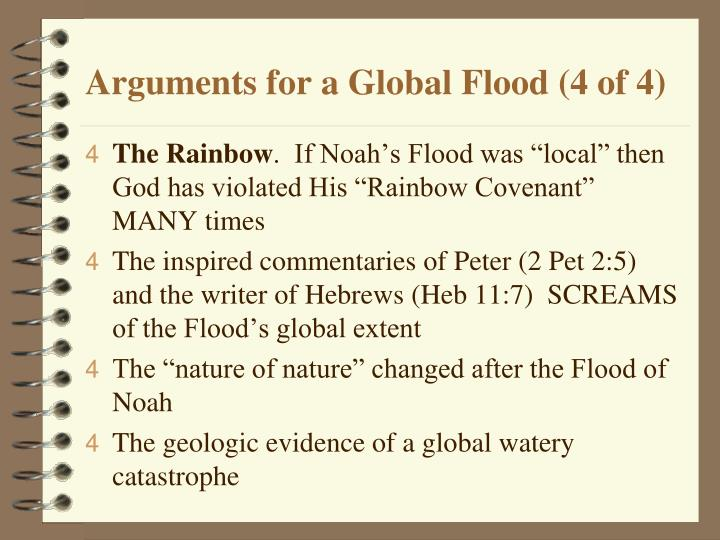 Arguments for a Global Flood (4 of 4)