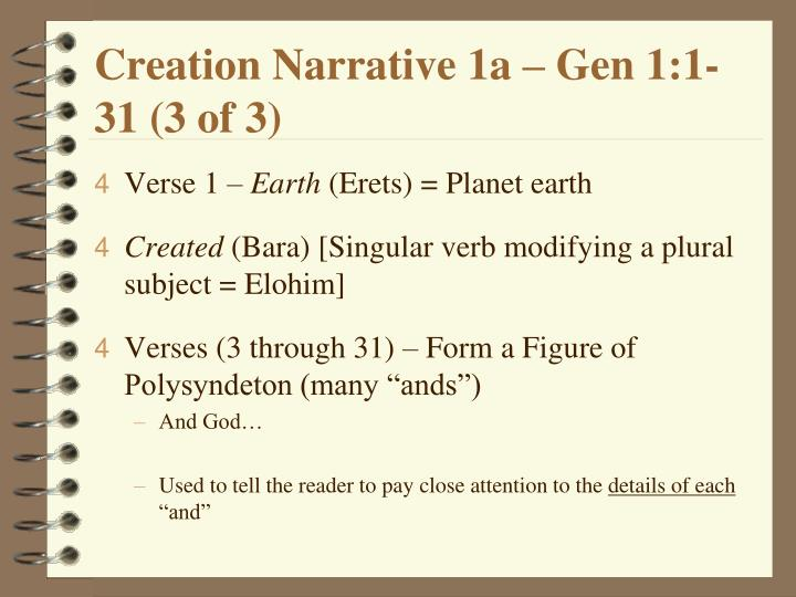 Creation Narrative 1a – Gen 1:1-31 (3 of 3)