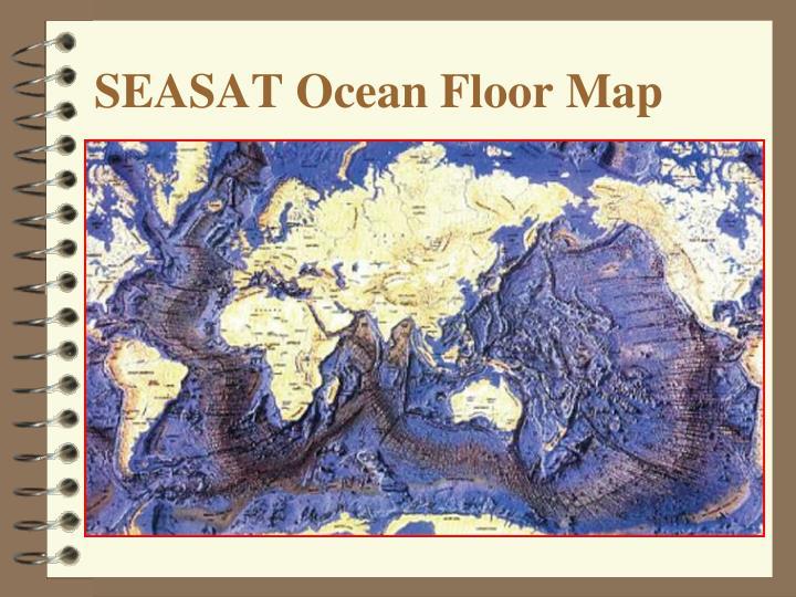 SEASAT Ocean Floor Map