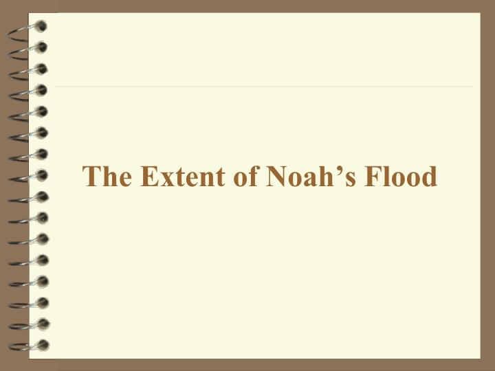 The Extent of Noah's Flood