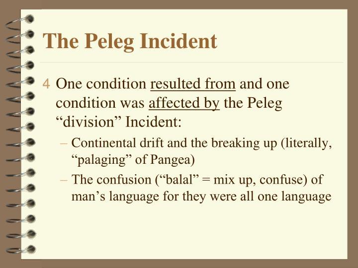 The Peleg Incident