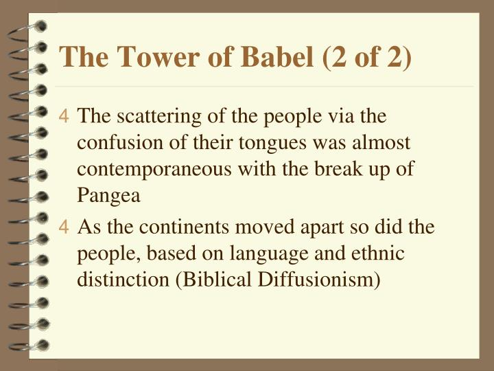 The Tower of Babel (2 of 2)