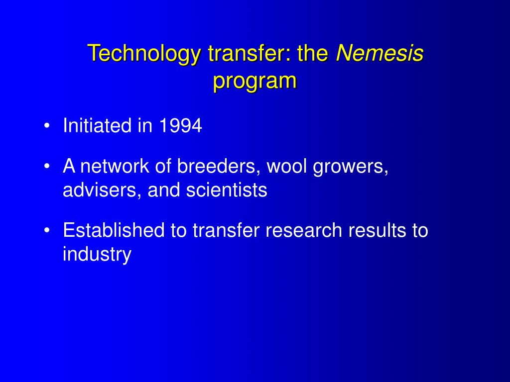 Technology transfer: the