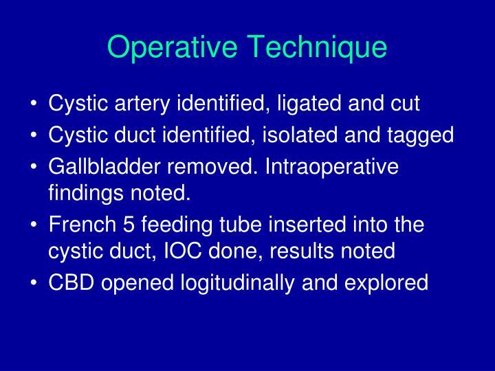 Operative Technique