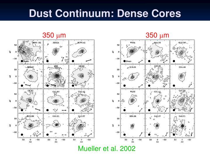 Dust Continuum: Dense Cores