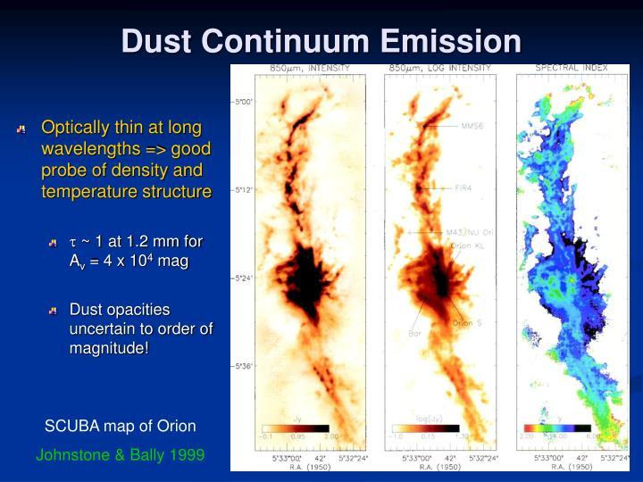 Dust Continuum Emission