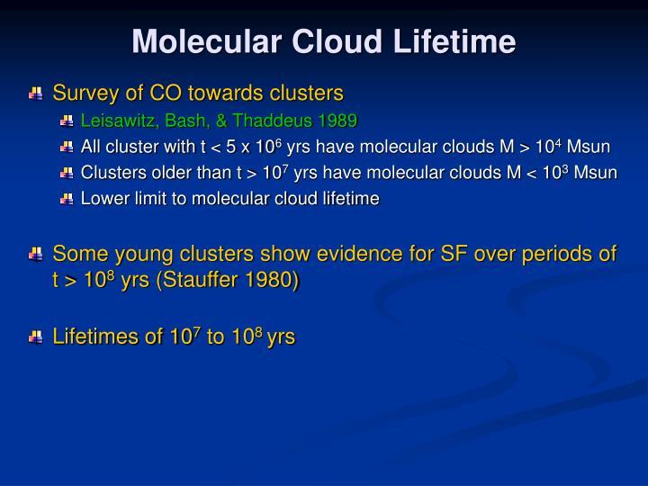 Molecular Cloud Lifetime