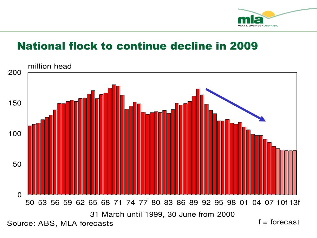 National flock to continue decline in 2009