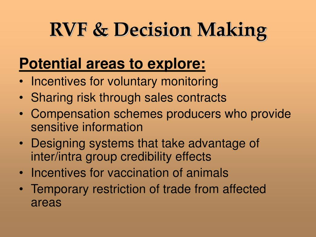 RVF & Decision