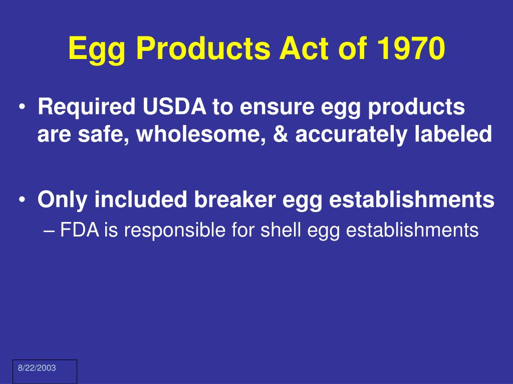 Egg Products Act of 1970