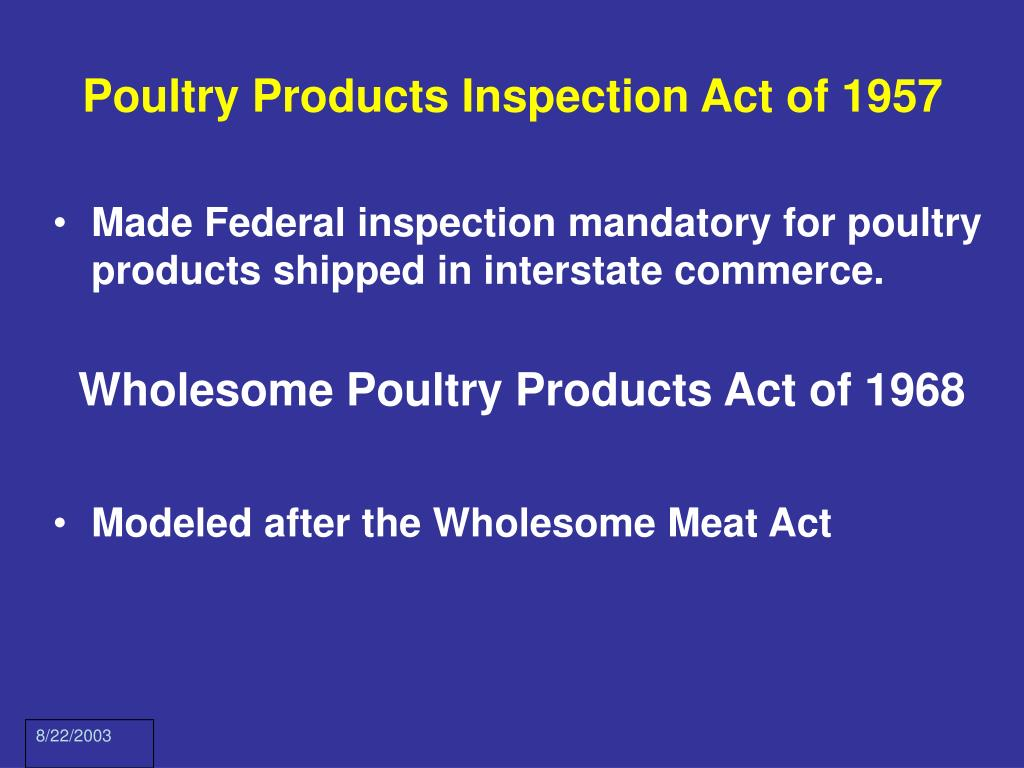 Poultry Products Inspection Act of 1957