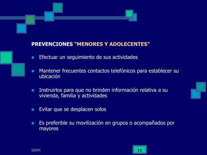 PREVENCIONES