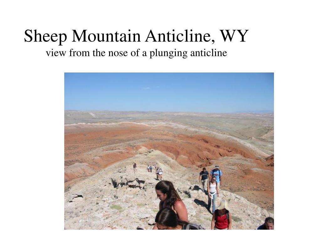 Sheep Mountain Anticline, WY