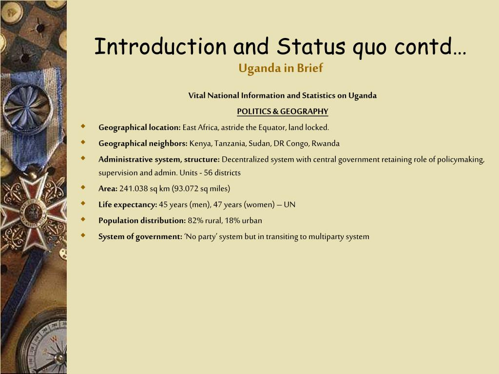 Introduction and Status quo contd…