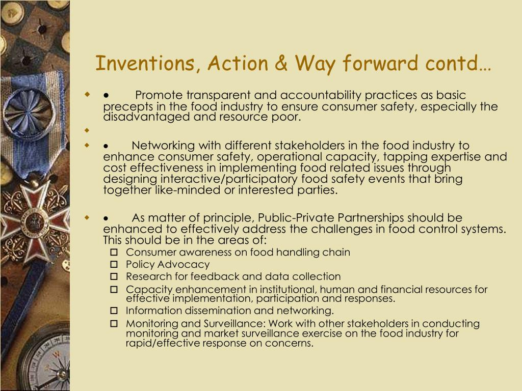 Inventions, Action & Way forward contd…