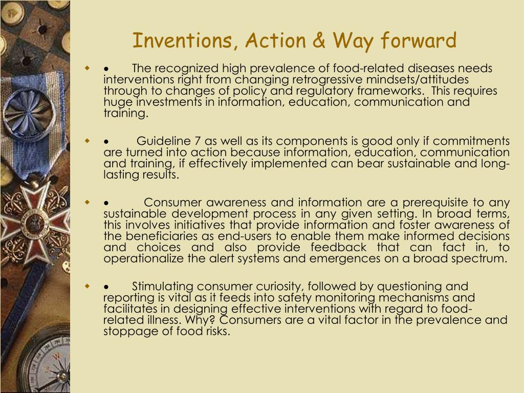 Inventions, Action & Way forward