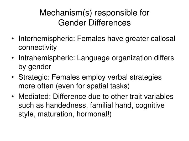 Mechanism(s) responsible for