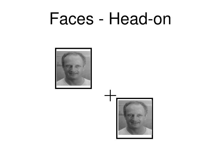Faces - Head-on