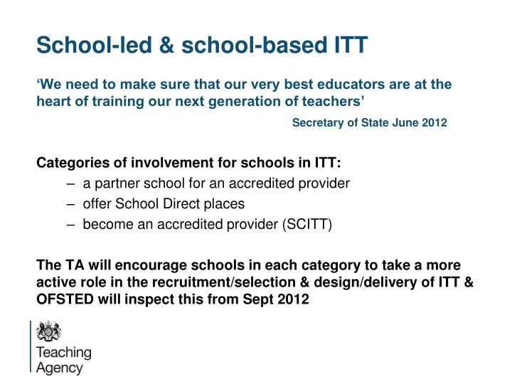 School-led & school-based ITT
