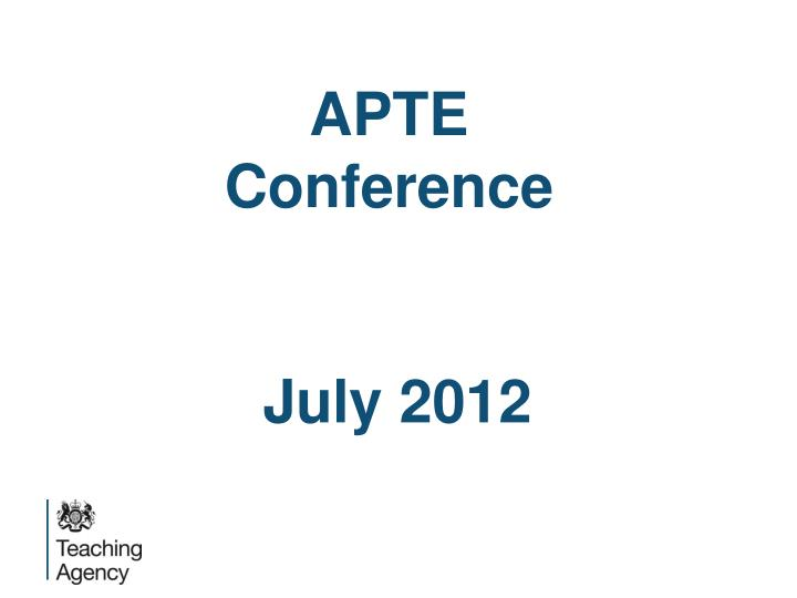 APTE Conference