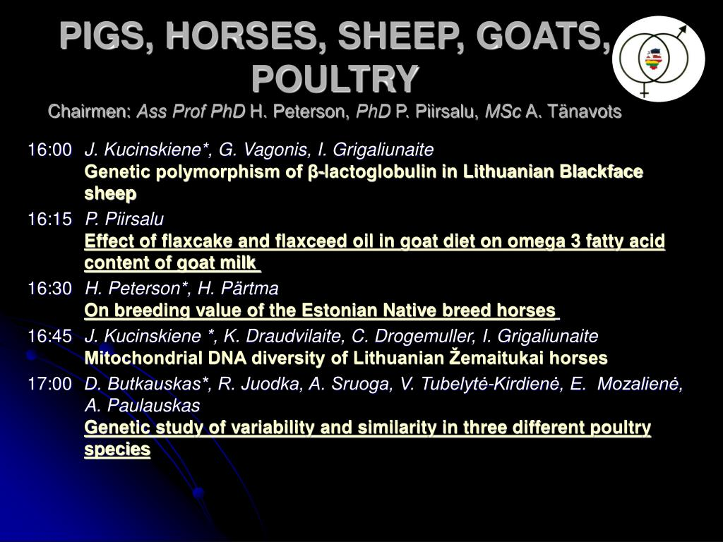 PIGS, HORSES, SHEEP, GOATS, POULTRY