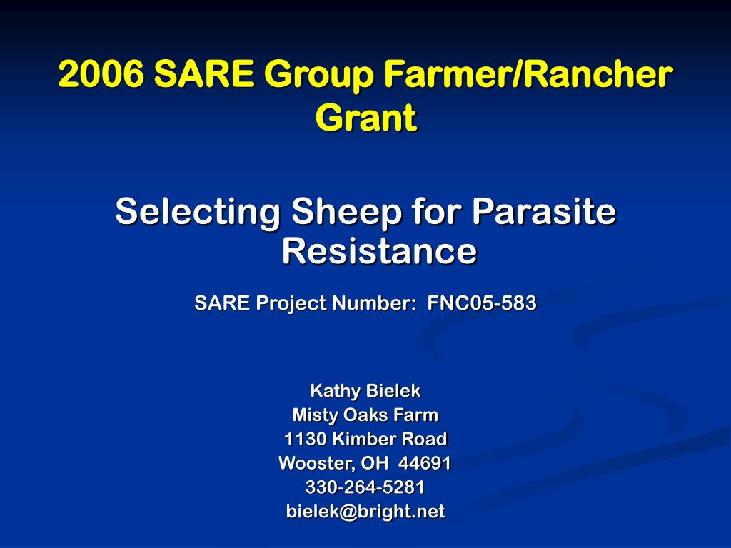 2006 SARE Group Farmer/Rancher Grant