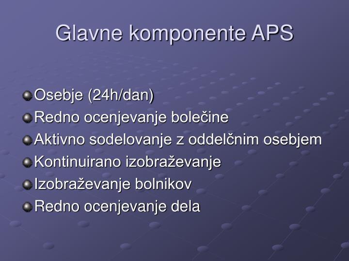Glavne komponente APS