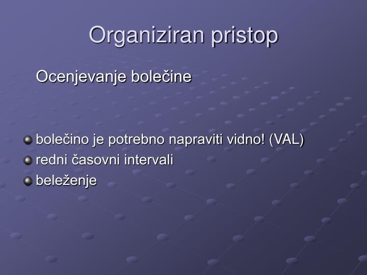 Organiziran pristop