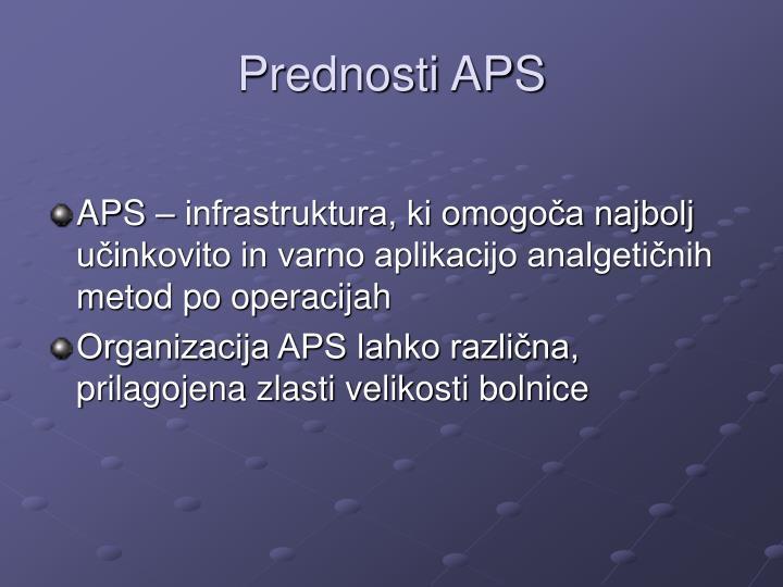 Prednosti APS