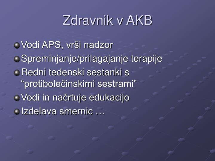 Zdravnik v AKB