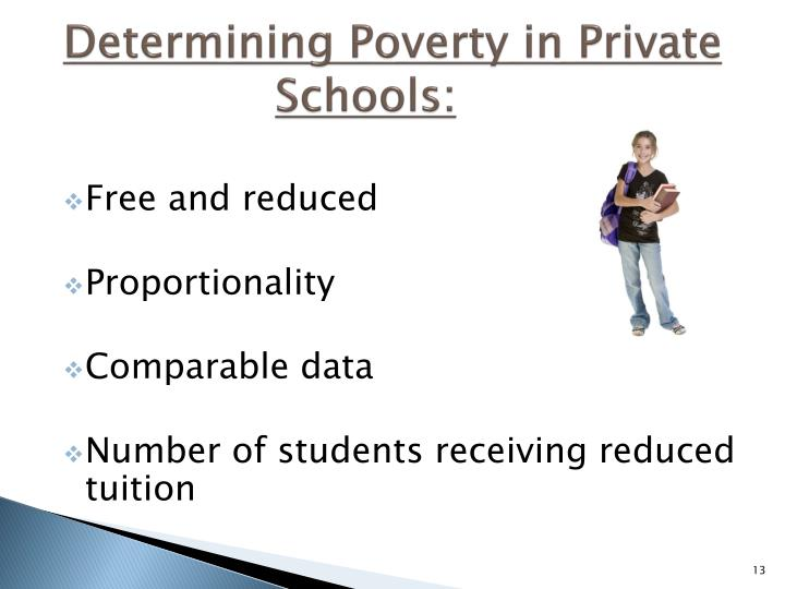 Determining Poverty in Private Schools: